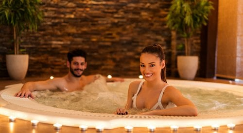 Feel the therapeutic benefits of hydrotherapy with a hot tub from Valley Pool & Spa