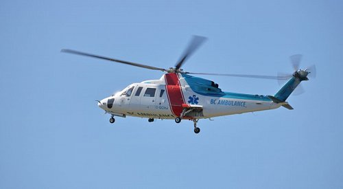 Cyclist airlifted to hospital from Highway 3A