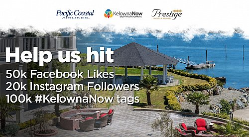 Contest Closed! Contest Alert! Help KelownaNow reach our social media milestones and win a trip to Victoria, BC