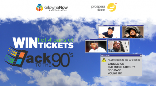 Contest closed! Contest Alert! Win a pair of tickets to the Back to the 90's Tour at Prospera Place