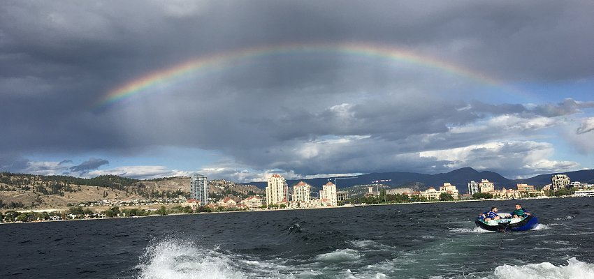 PHOTOS: A beautiful rainbow closes out the weekend in Kelowna