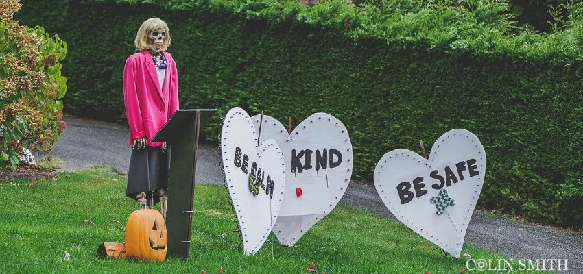 PHOTOS: Dr. Bonnie Henry inspired Halloween display pops up at BC house
